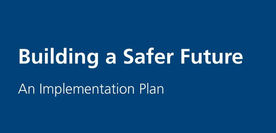 Building a safer future graphic